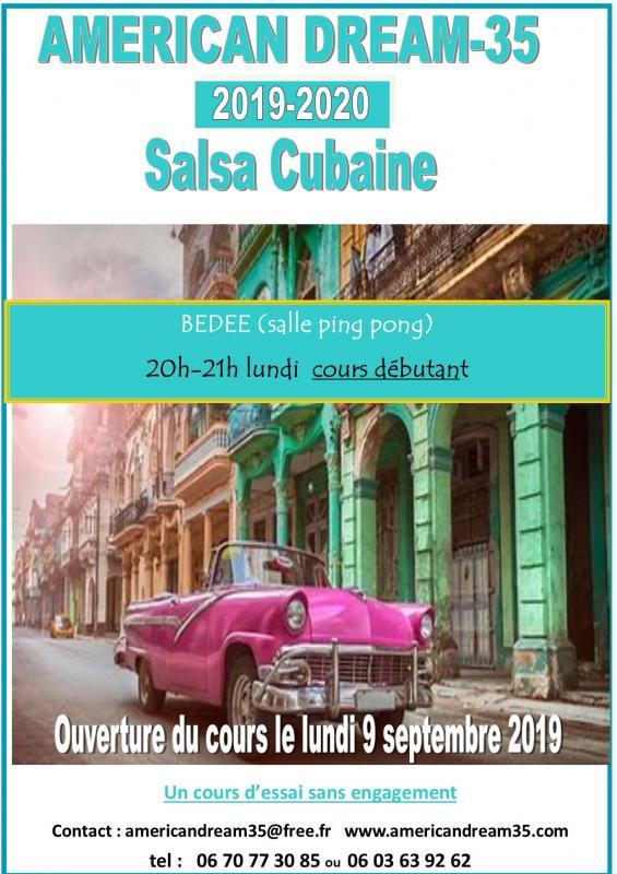 Affiche ouverture 2019 2020 salsa