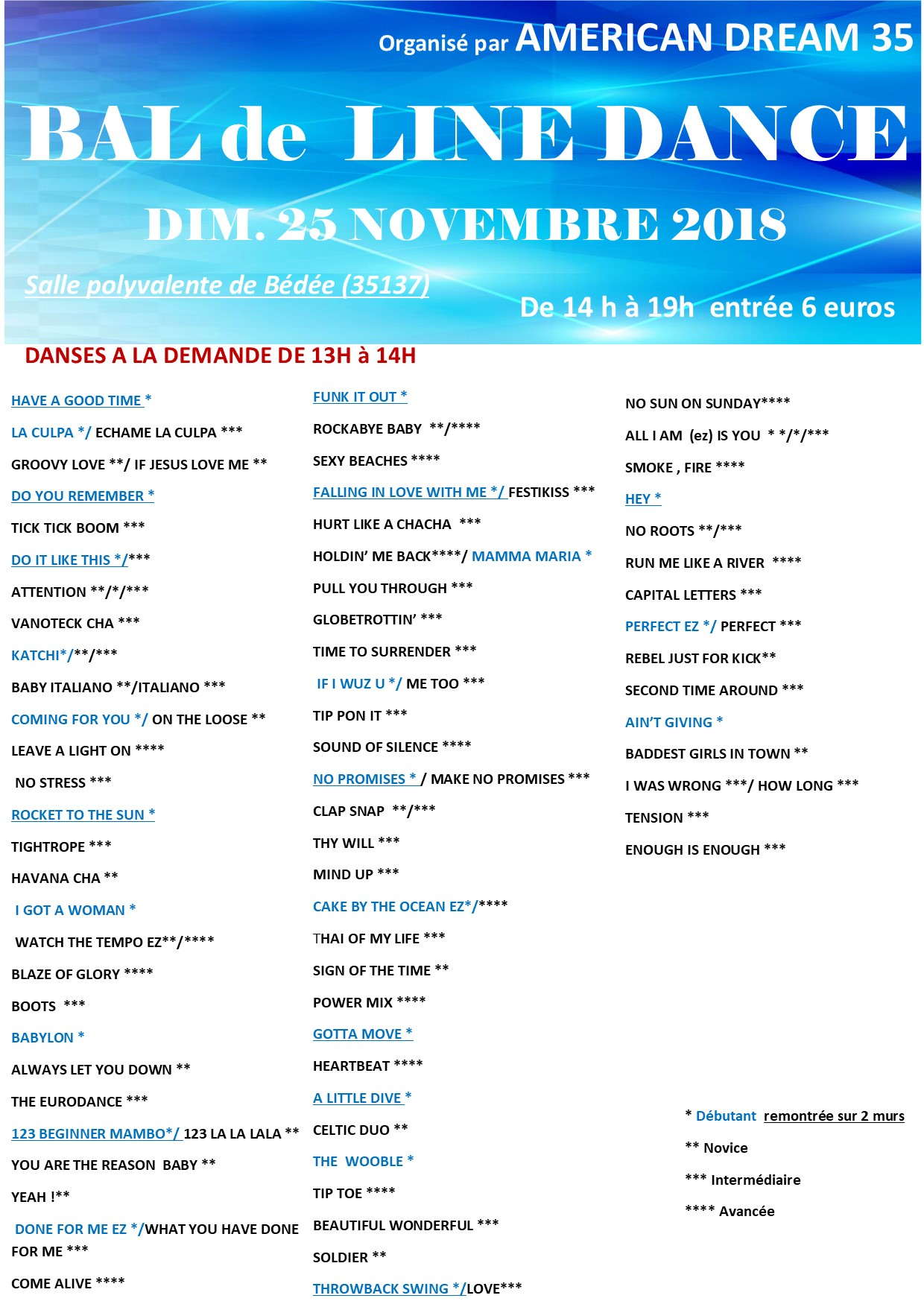 Playlist 25 nov 18 def
